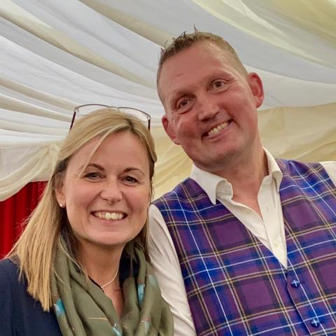 Sheena meets Doddie at the Wigtown Book Festival